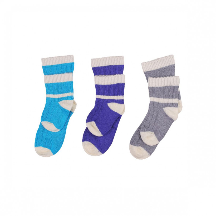 Bamboo Socks XKKO BMB - Stripes For Boys 2nd Quality