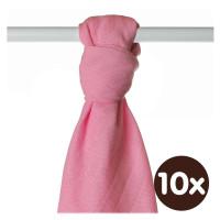 Bamboo muslin towel XKKO BMB 90x100 - Pink 10x1pcs (Wholesale packaging)