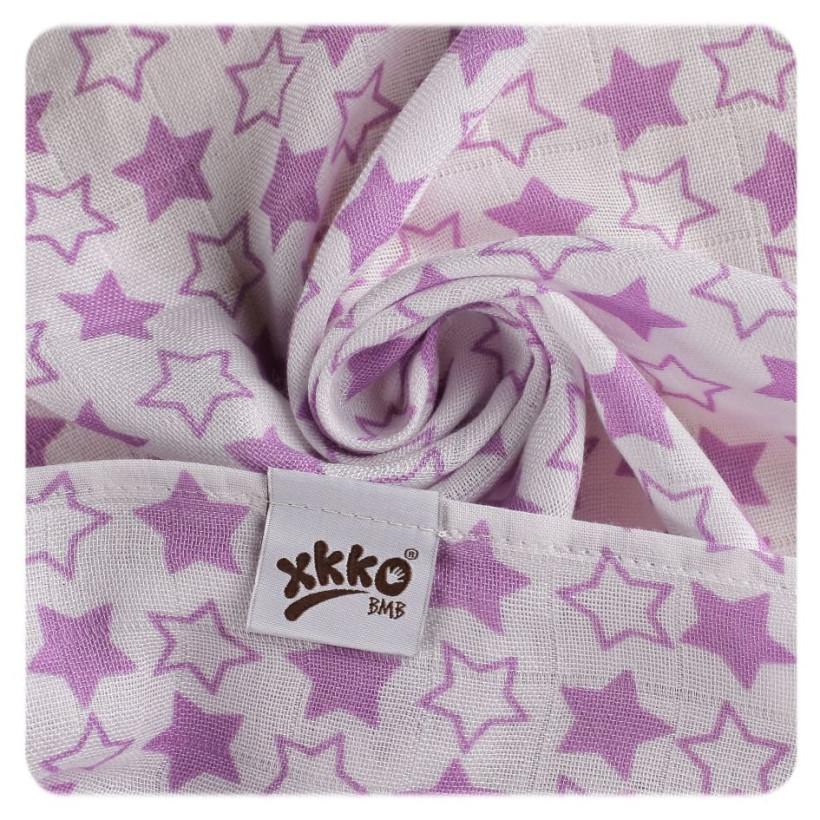 Bamboo muslin towel XKKO BMB 90x100 - LIttle Stars Lilac