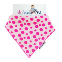 Dribble Ons Pink Spots 3x1ps (Wholesale pack.)