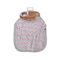 Bamboo Burp Cloth XKKO BMB - Baby Pink Chevron