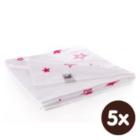 Bamboo blanket XKKO BMB 130x70 - Magenta Stars 5x1ps Wholesale packing