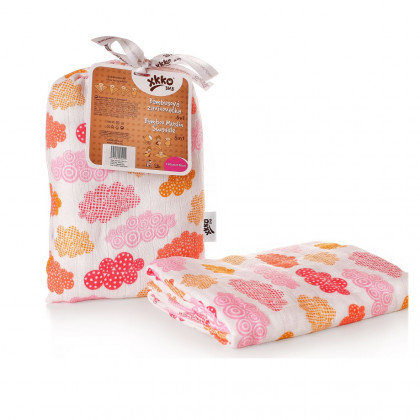 Bamboo swaddle XKKO BMB 120x120 - Heaven for Girls