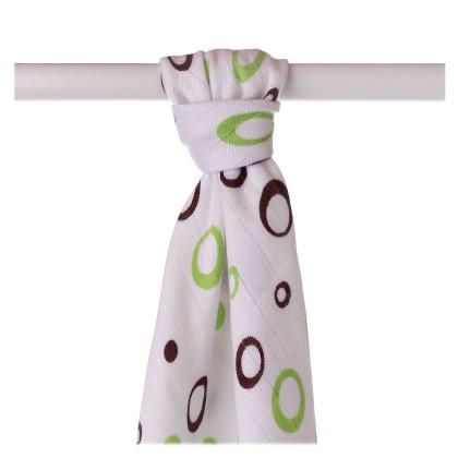 Bamboo muslin towel XKKO BMB 90x100 - Lime Bubbles