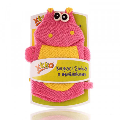 XKKO Polyester Bath Glove - Hippo