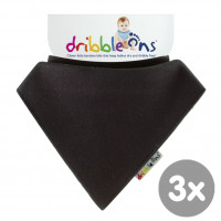 Dribble Ons Charcoal 3x1ps (Wholesale pack.)