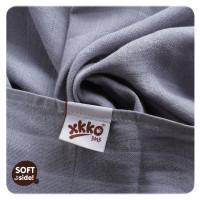 Bamboo muslins XKKO BMB 70x70 - Silver 10x3pcs (Wholesale packaging)