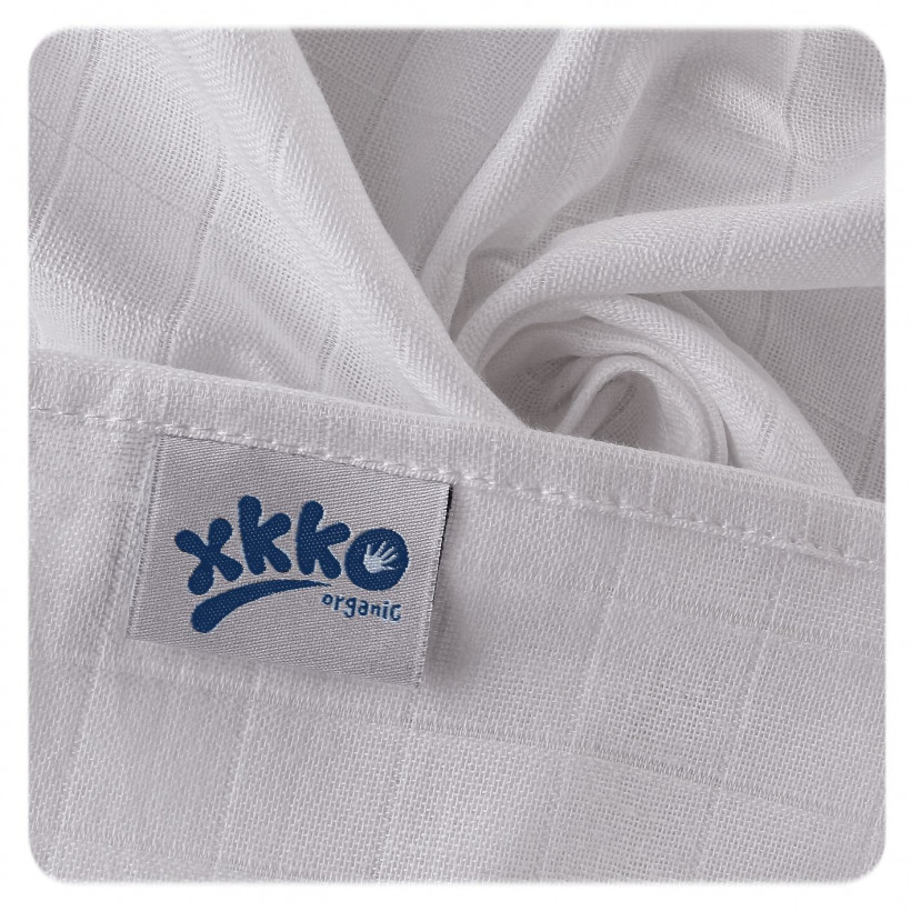 Organic Cotton Muslins XKKO Organic 70x70 Old Times - Pastels for Boys
