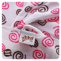 Bamboo muslins XKKO BMB 70x70 - Spirals&Bubbles Magenta MIX 10x3pcs (Wholesale packaging)