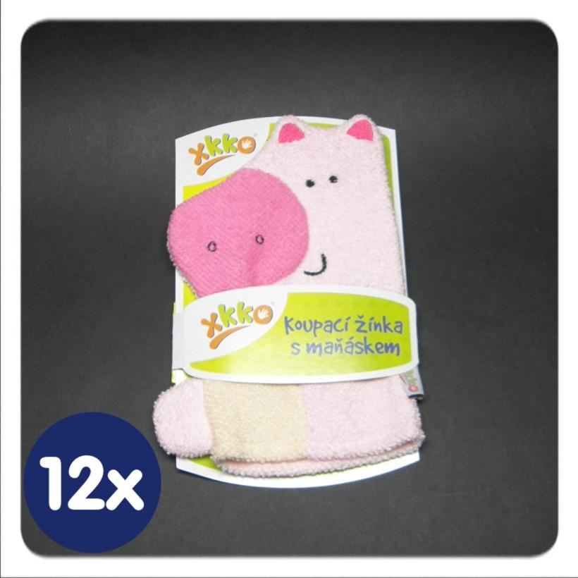 XKKO Cotton Bath Glove - Pig 12x1ps (Wholesale pack.)