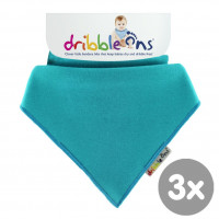Dribble Ons Turquoise 3x1ps (Wholesale pack.)