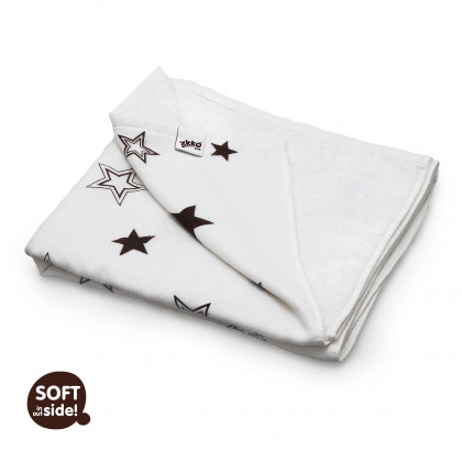 Bamboo blanket XKKO BMB 130x70 - Natural Brown Stars