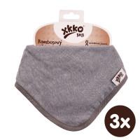 Bamboo bandana XKKO BMB - Silver 3x1ps Wholesale packing