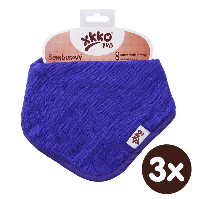 Bamboo bandana XKKO BMB - Ocean Blue 3x1ps Wholesale packing