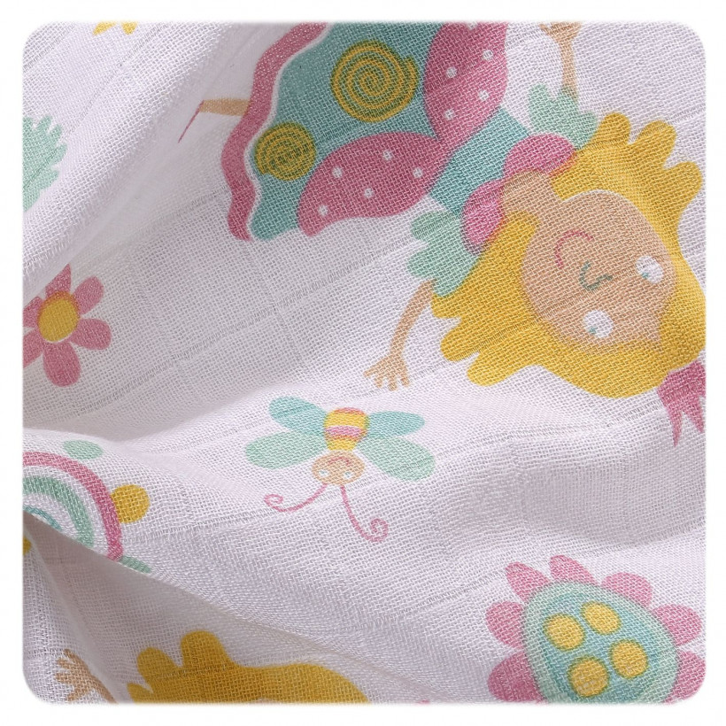 Hight Density Cotton Muslins XKKO LUX 80x80 - For Girls 10x3ps  (Wholesale pack.)