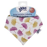 Organic Cotton Muslin Bandana XKKO Organic - Ginkgo
