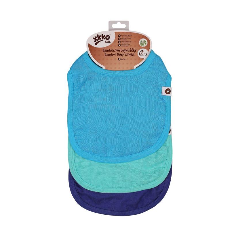 Bamboo Burp Cloth XKKO BMB - Ocean Blue MIX 3ps