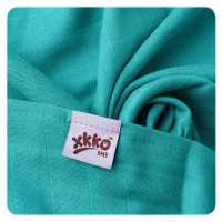 Bamboo muslins XKKO BMB 70x70 - Turquoise 10x3pcs (Wholesale packaging)