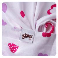 Bamboo muslin towel XKKO BMB 90x100 - Lilac Hearts
