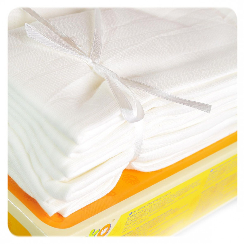 Hight Density Cotton Muslins XKKO LUX ECO 70x70 - Natural 20x10ps (Wholesale pack.)