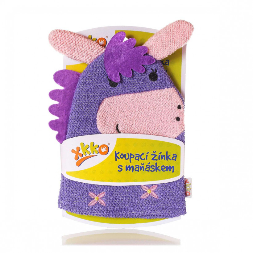 XKKO Cotton Bath Glove - Donkey 12x1ps (Wholesale pack.)