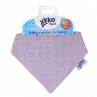 Organic Cotton Muslin Bandana XKKO Organic - Violet 3x1ps (Wholesale pack.)