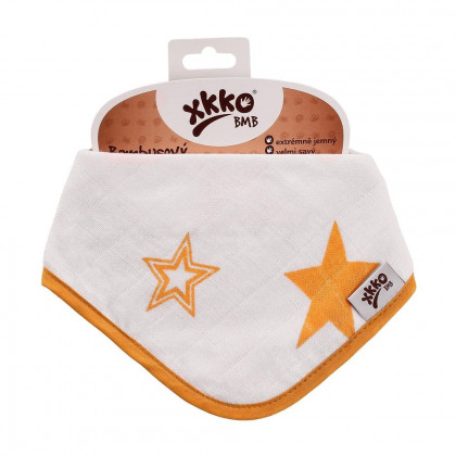 Bamboo bandana XKKO BMB - Orange Stars