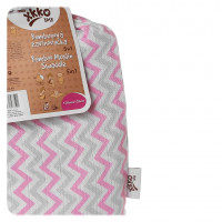 Bamboo swaddle XKKO BMB 120x120 - Baby Pink Chevron 5x1ps (Wholesale packaging)