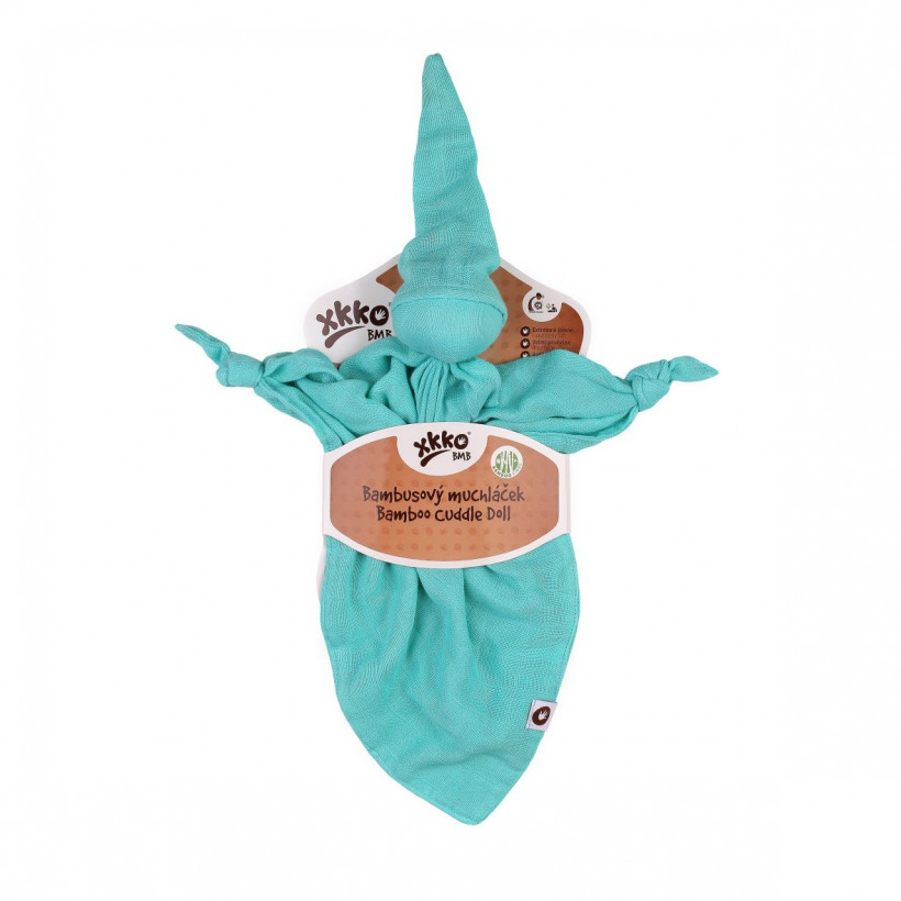 Bamboo cuddly toy XKKO BMB - Turquoise