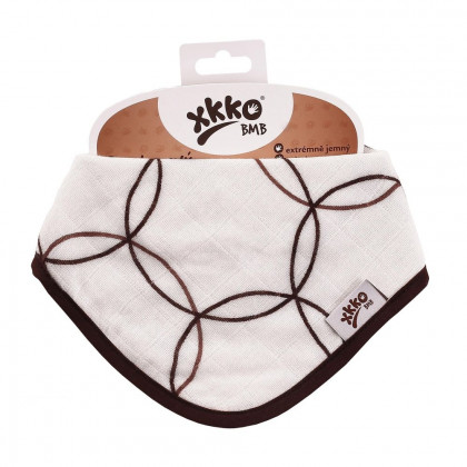Bamboo bandana XKKO BMB - Natural Brown Circles
