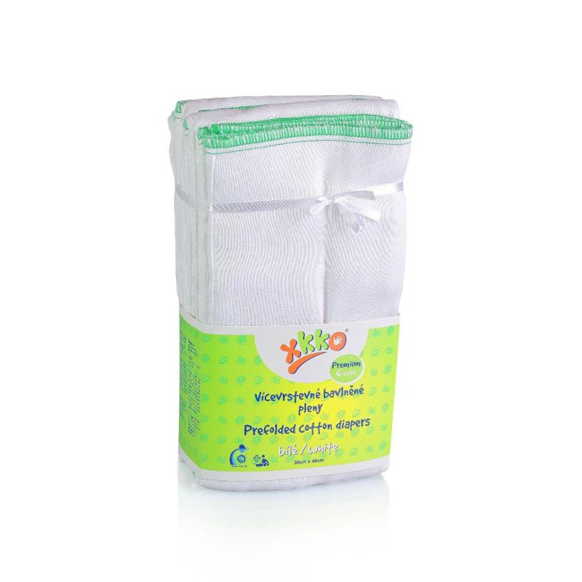 Prefolded Diapers XKKO Classic - Premium White 24x6ps (Wholesale pack.)