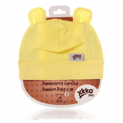Bamboo Baby Hat XKKO BMB - Lemon