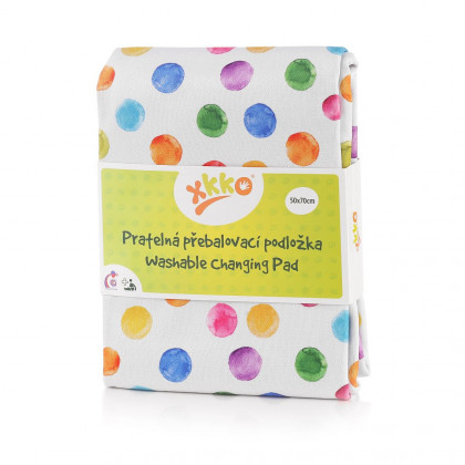 Washable Changing Pad XKKO 50x70 - Watercolour Polka Dots