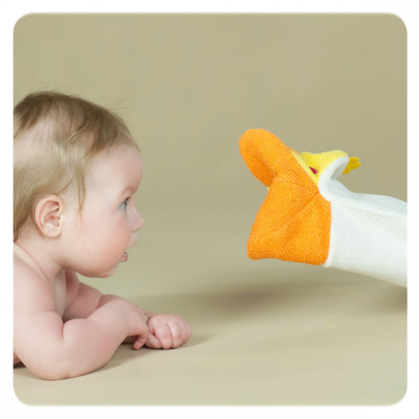XKKO Cotton Bath Glove - Duck
