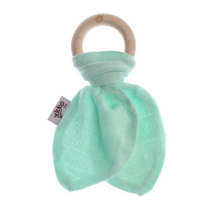 XKKO BMB Bamboo teether with Leaves - Mint