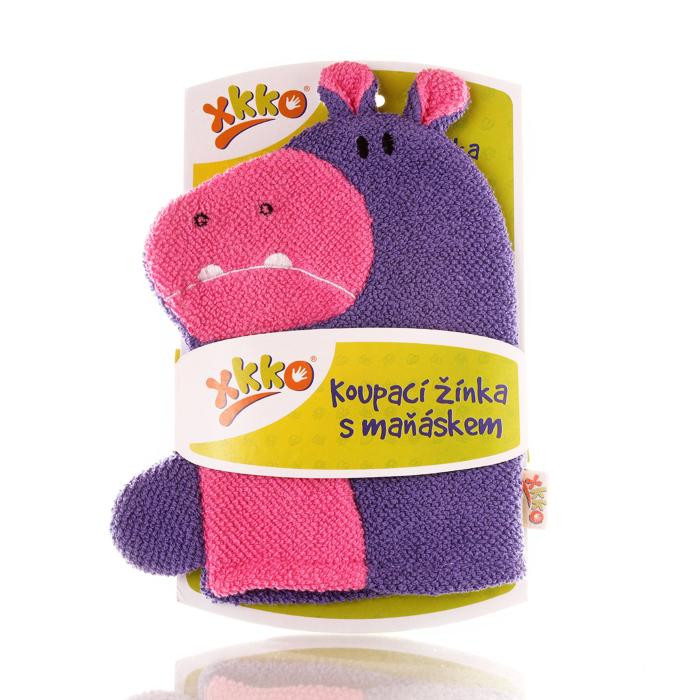 XKKO Cotton Bath Glove - Hippo 12x1ps (Wholesale pack.)