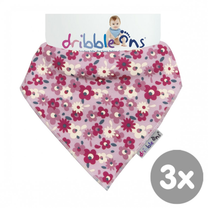 Dribble Ons Floral Ditsy 3x1ps (Wholesale pack.)