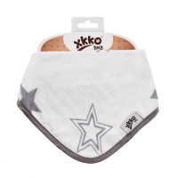 Bamboo bandana XKKO BMB - Silver Stars 3x1ps Wholesale packing