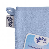 Organic cotton Terry Bath Glove XKKO Organic - Baby Blue