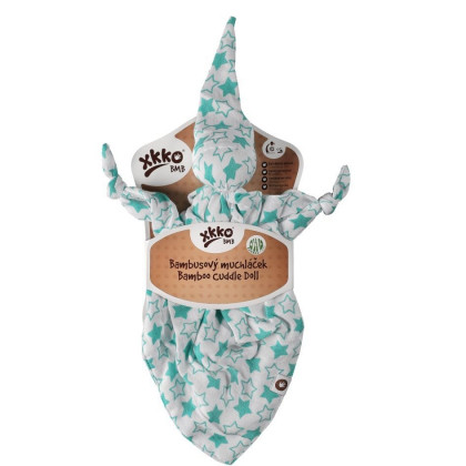 Bamboo cuddly toy XKKO BMB - Little Stars Turquoise