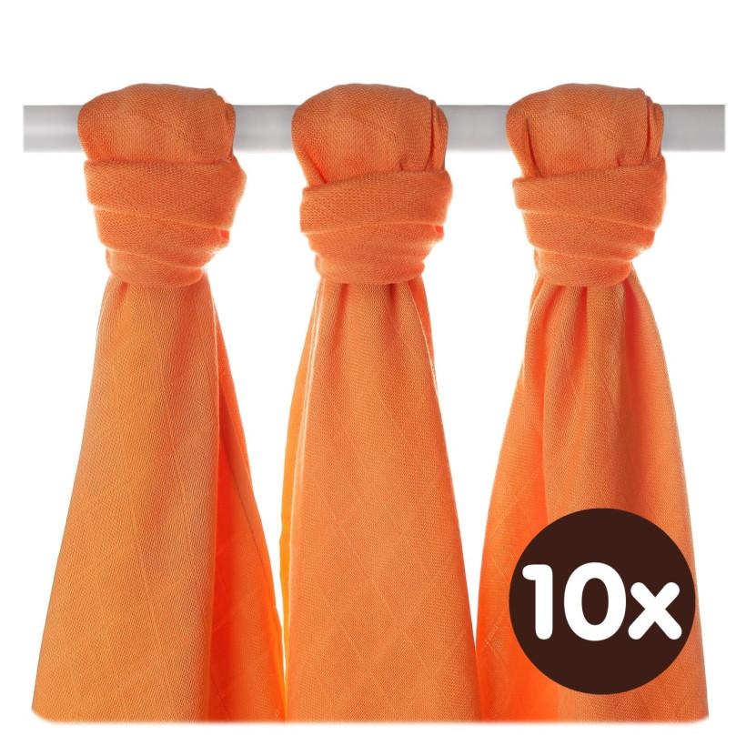 Bamboo muslins XKKO BMB 70x70 - Orange 10x3pcs (Wholesale packaging)