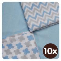 Bamboo muslins XKKO BMB 30x30 - Scandinavian Baby Blue MIX 10x9pcs (Wholesale packaging)