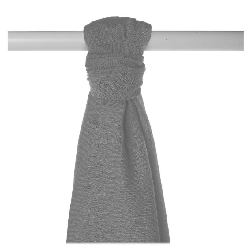 Bamboo muslin towel XKKO BMB 90x100 - Silver