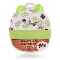 Bamboo Baby Hat XKKO BMB - Lime Spirals
