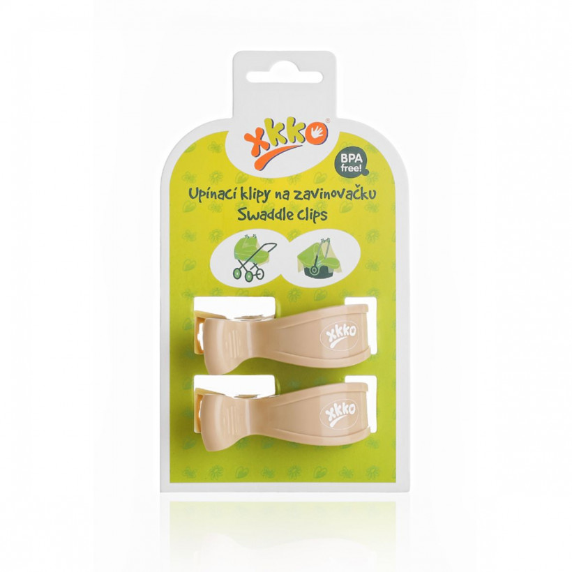 Pram Clips XKKO - Light Brown 5x2ps (Wholesale pack.)