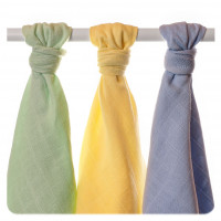 Organic Cotton Muslin Towels XKKO Organic 90x100 Old Times - Pastels For Boys