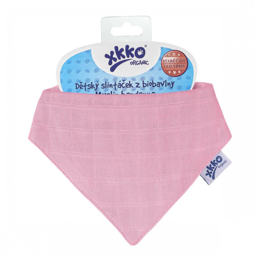 Organic Cotton Muslin Bandana XKKO Organic - Pink