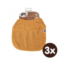 Bamboo Burp Cloth XKKO BMB - Orange 3x1ps (Wholesale packaging)