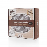 Bamboo swaddle XKKO BMB 117x117 - LE Silver Triangles