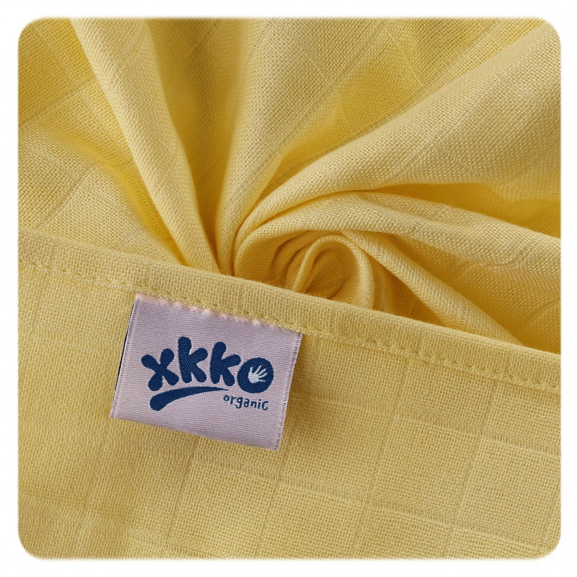 Organic Cotton Muslins XKKO Organic 70x70 Old Times - Pastels for Girls